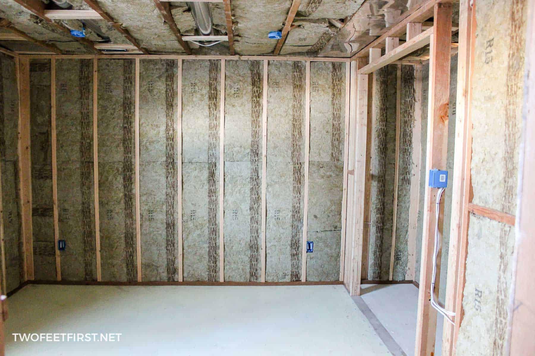 finishing basement framing and insulation
