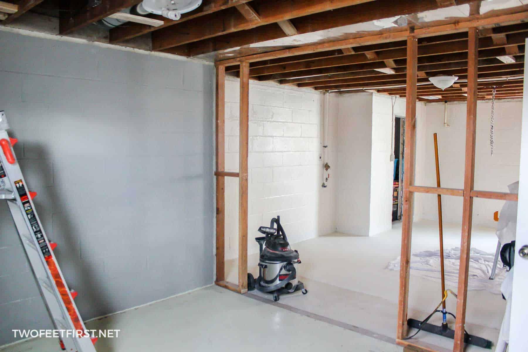 cinderblock basement