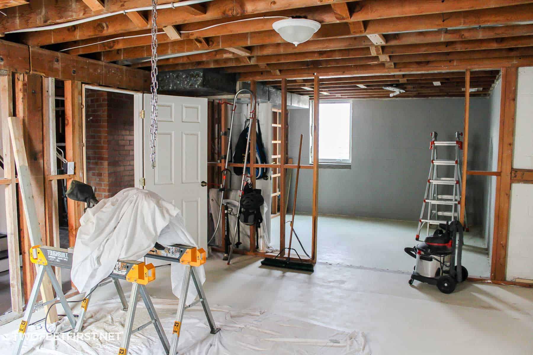 how to remodel a cinderblock basement