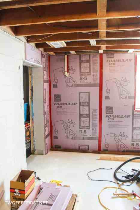 install Foamular to cinderblock wall