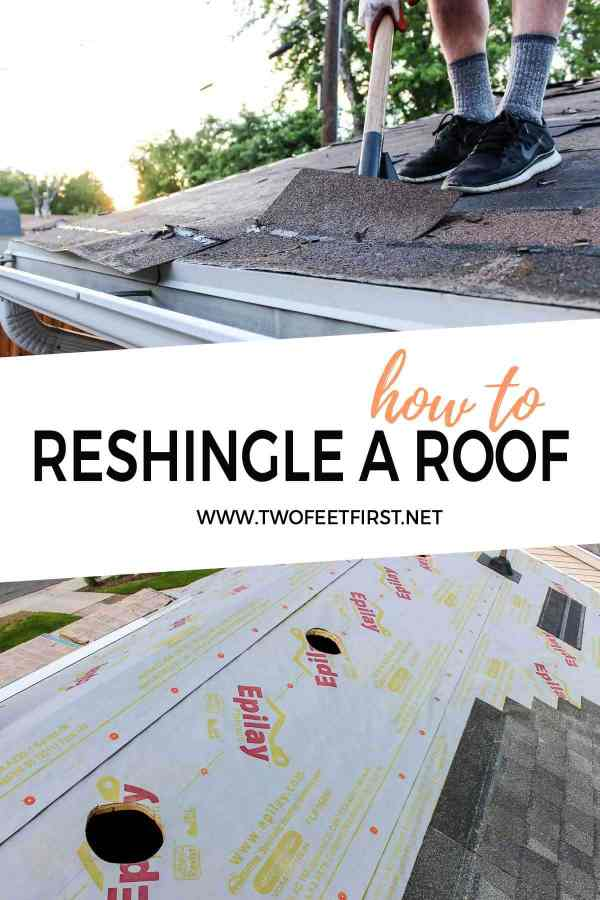 how to re-shingle a roof