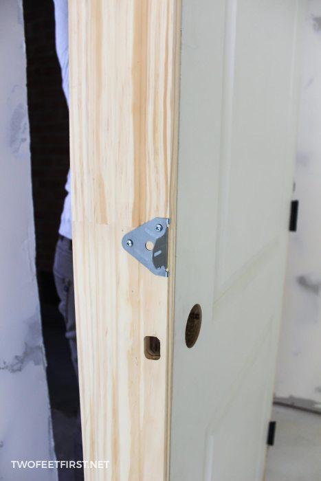 install a door with quick door hangers
