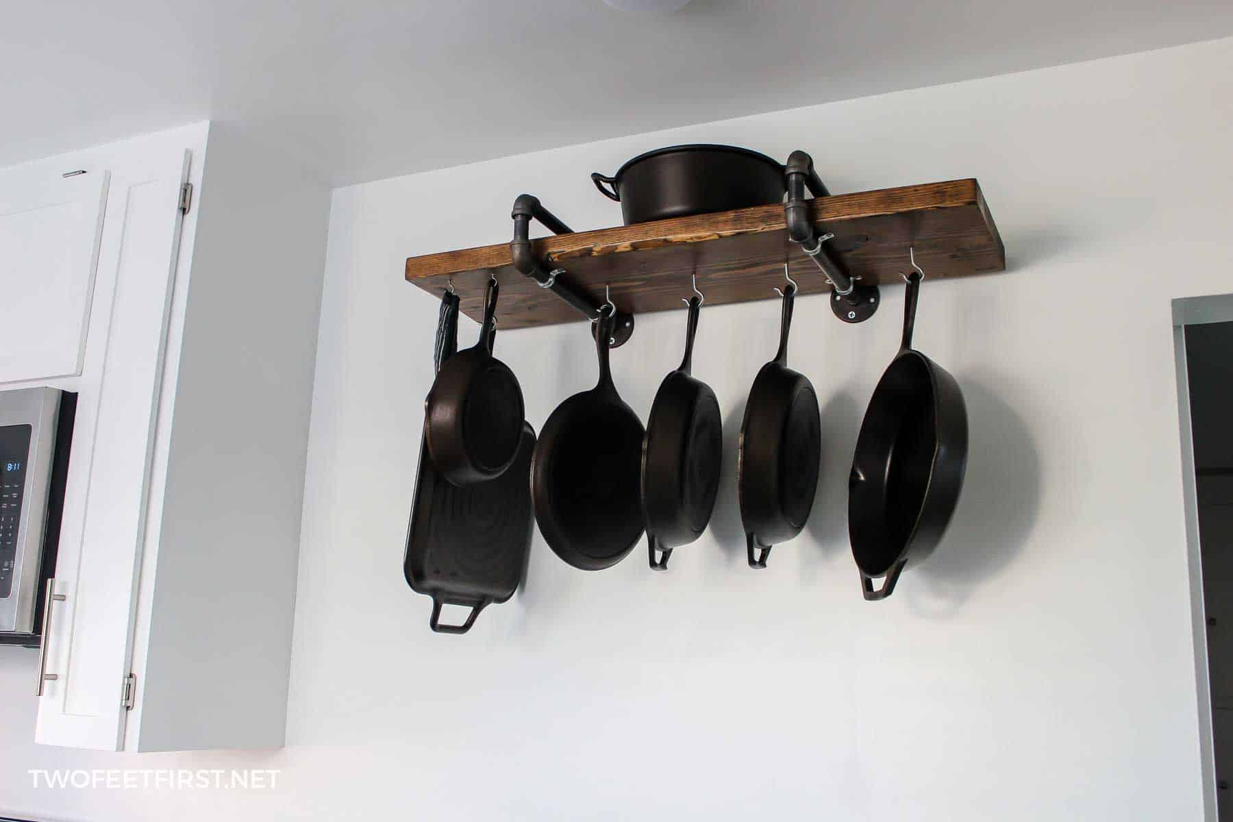 DIY pan storage rack