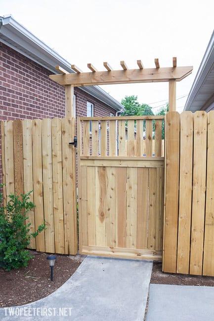 build a wood gate