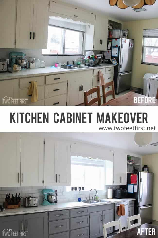 Update Kitchen Cabinet Doors For Cheap TwoFeetFirst
