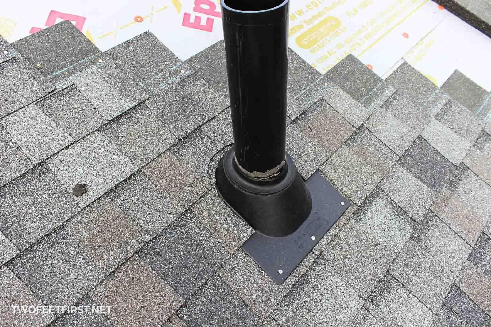 install roof pipe vent