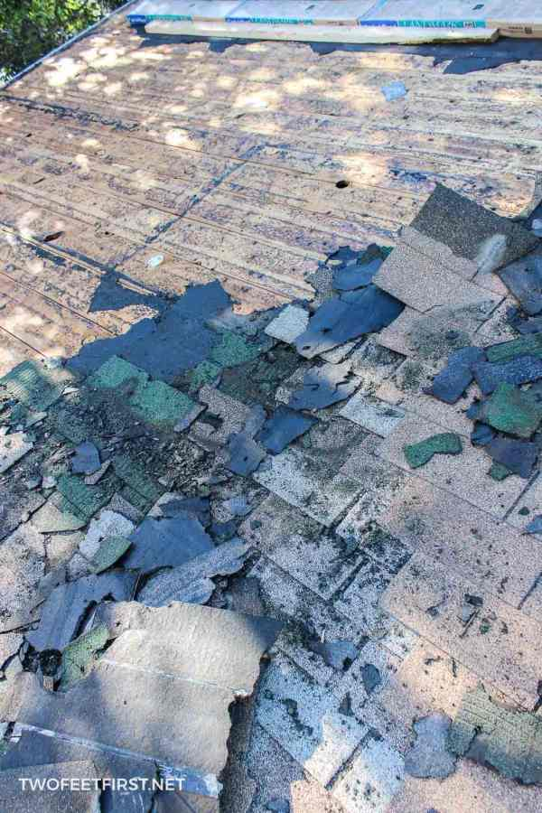removing old shingles