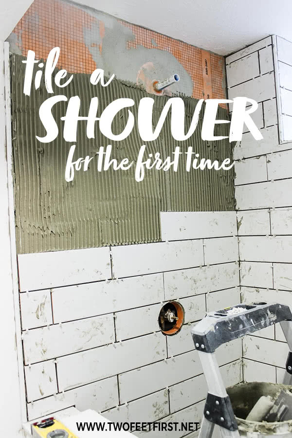 tile a shower for the first time