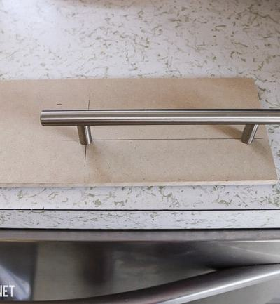 add cabinet hardware with a template