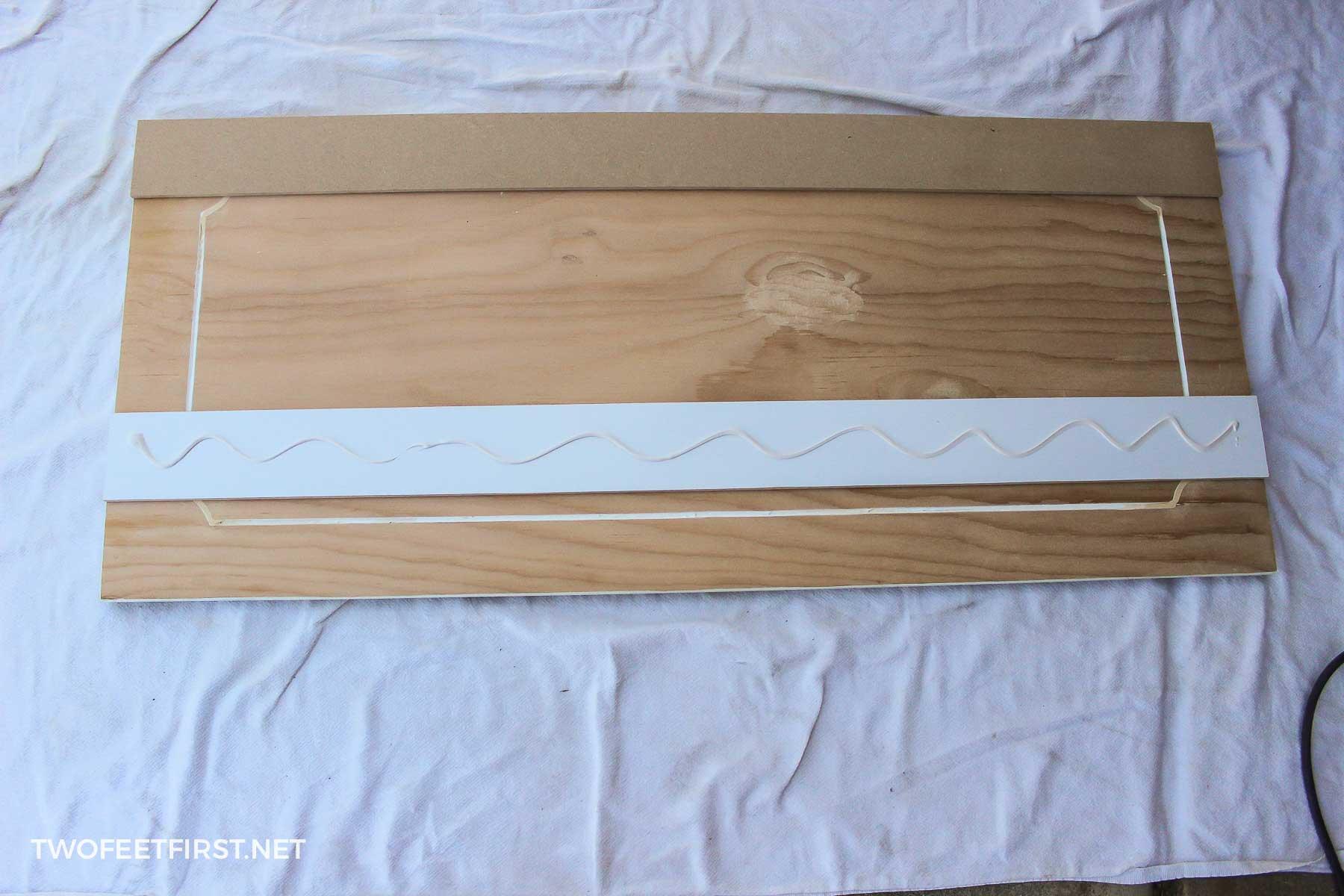 glue trim to cabinet
