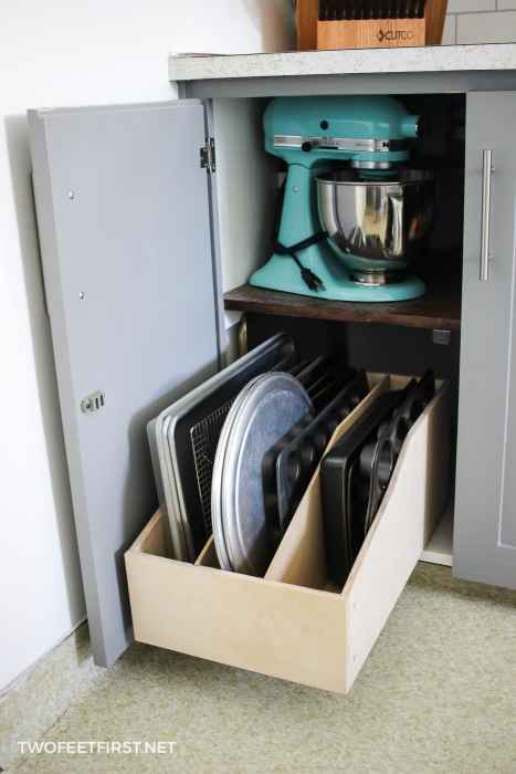 pullout cookie sheet drawer