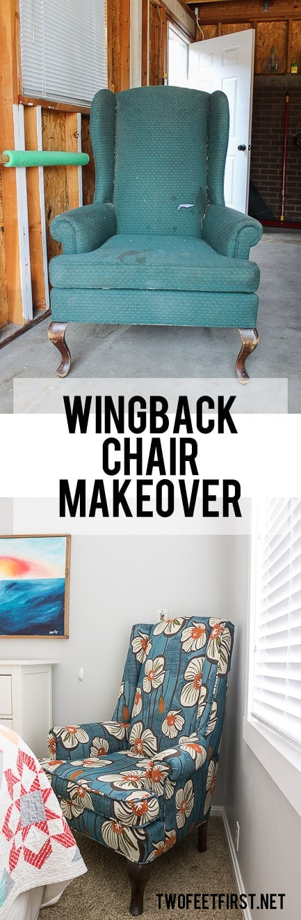 Wingback Chair Makeover