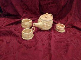 Beehive teaset - coil ceramic