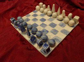 Chess set, ceramic