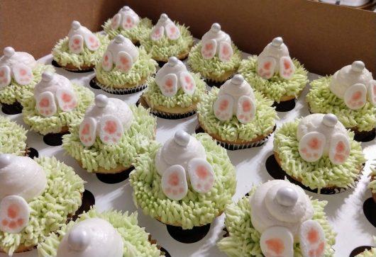 Burrowing bunny cupcakes