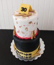 Crime scene cake