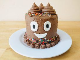 Whimsical poop cake