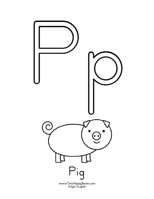 Learn the letter P with Fluffy and Ivy