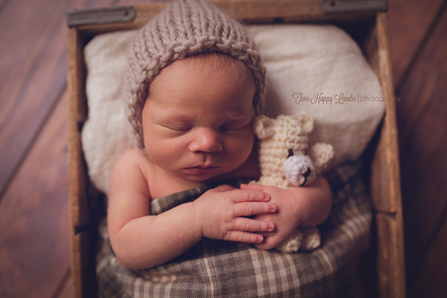 20160419-Arroyo-Grande-Baby-Pictures-Newborn-Teddy-Bear-Knit-Hat-cute-newborn-pictures-props-plaid