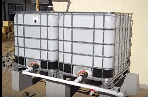 Rainwater capture in IBC