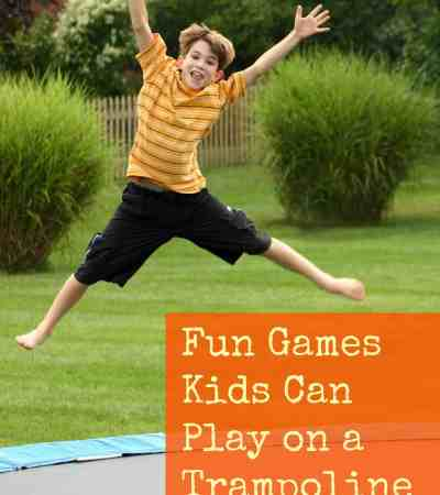Fun Games Kids Can Play on a Trampoline - Two Kids and a Coupon