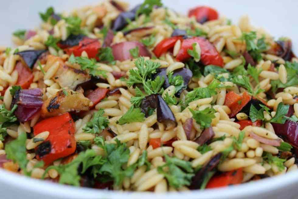 grilled vegetable orzo