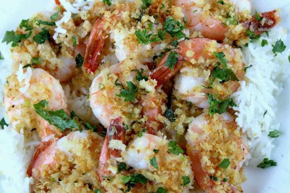 Panko-crusted Garlic Lemon Shrimp