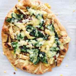 Naan Pizza - Mushroom and Ricotta