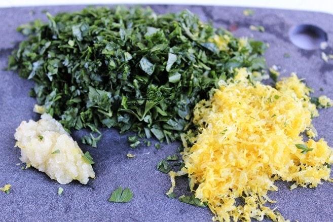 Gremolata ingredients
