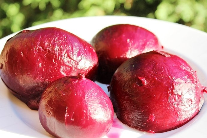 beets, roasted and peeled