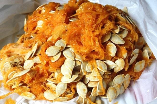Pumpkin Seeds and pulp