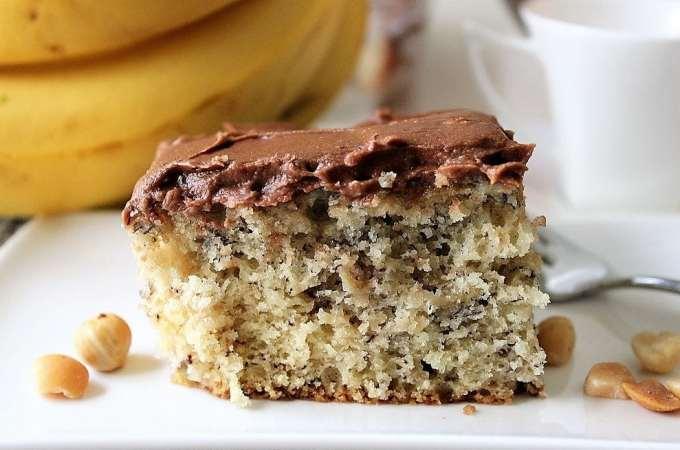 Best Banana Cake with Chocolate Icing
