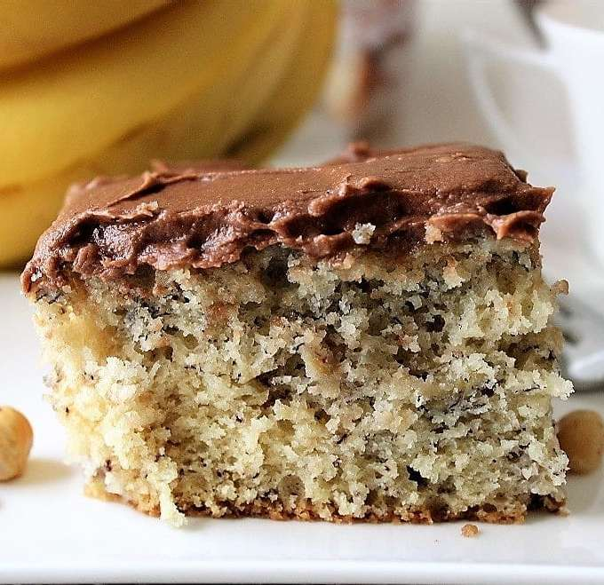 Best Banana Cake with Chocolate Buttercream Icing