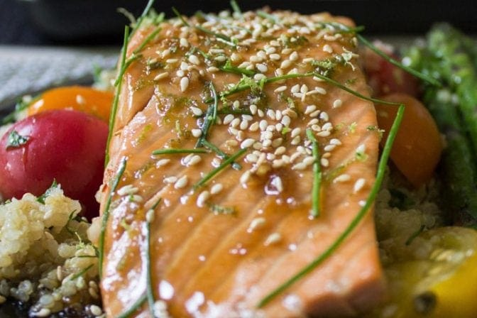 Easy Maple Lime Salmon