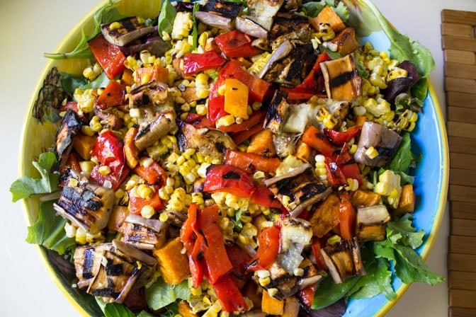 Party Salad with Grilled Vegetables and Quinoa