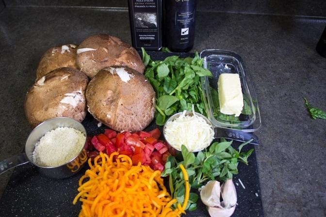 Grilled Stuffed Portobello Mushrooms ingredients