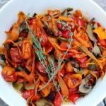 Roasted Veggies on Spiced Rice
