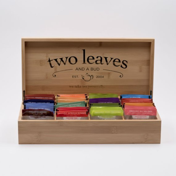 Caja de Té Bambú para Infusiones Grande Two Leaves Tea