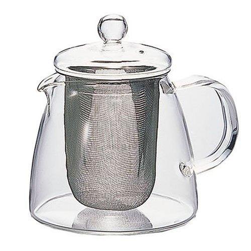 Tetera de Cristal con Filtro de Malla 360 ml Hario Two Leaves Tea