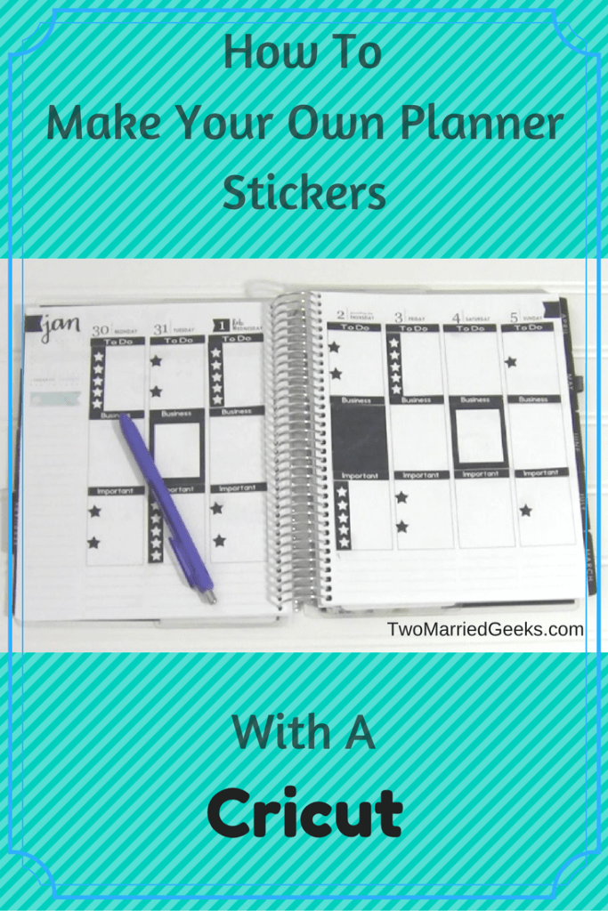 make your own planner stickers with a cricut