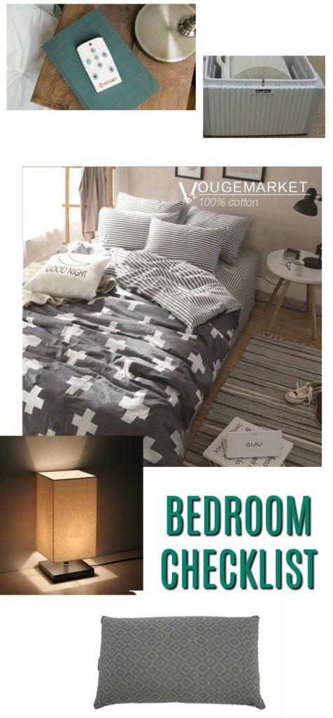 bedroom checklist