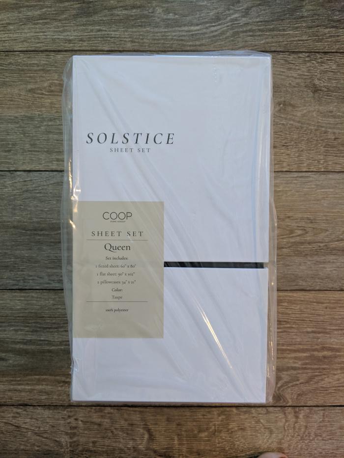Coop Solstice Sheets