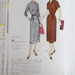 3017 Mccalls 1954 Winter Vintage Pattern | 1950s Two Old Beans Vintage Clothing