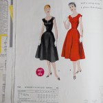 Mccalls 1954 Winter Vintage Pattern | 1950s Two Old Beans Vintage Clothing