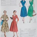 9822 + 9638 Mccalls 1954 Winter Vintage Pattern | 1950s Two Old Beans Vintage Clothing