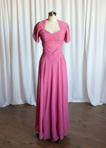 I'll Be Lovin' You dress | vintage 40s gown | pink silk chiffon 1930s / 1940s evening gown | vintage party / prom / formal / wedding dress
