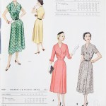 9404 + 9602 Mccalls 1954 Winter Vintage Pattern | 1950s Two Old Beans Vintage Clothing
