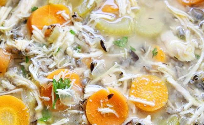 Slow Cooker Chicken And Wild Rice Soup Crockpot Soup Recipe