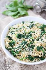 5-Ingredient Spinach Parmesan Pasta This easy pasta recipe is a family favorite weeknight dinner.