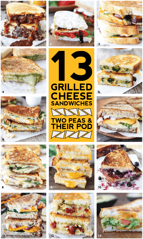 13 grilled cheese recipes